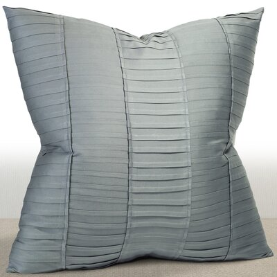 Eisenberg Ambi Ridge Pleated Sateen Euro Sham Color: Mist
