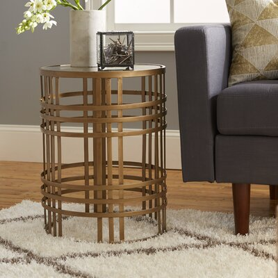 Valerio Large Barrel End Table