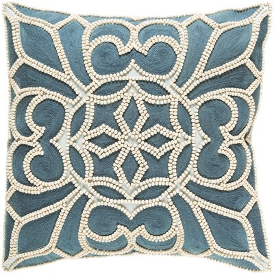 Baltz Cotton Pillow Cover Size: 18 H x 18 W x 1 D, Color: Blue