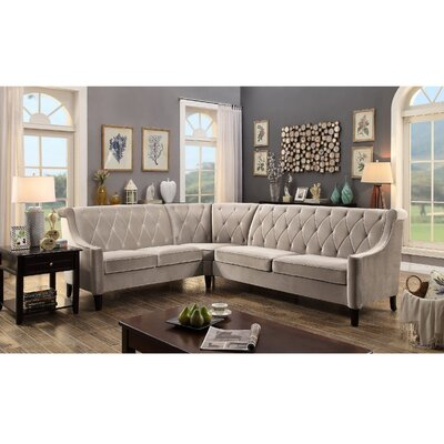 Fanning Sectional Upholstery : Milky Beige