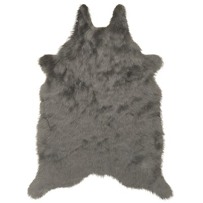 Sonnier Faux Sheepskin Silver/Gray Area Rug
