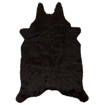 Tenley Handmade Black Area Rug