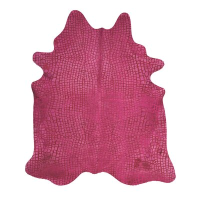Bretta Crocodile Fuschia Hide Rug