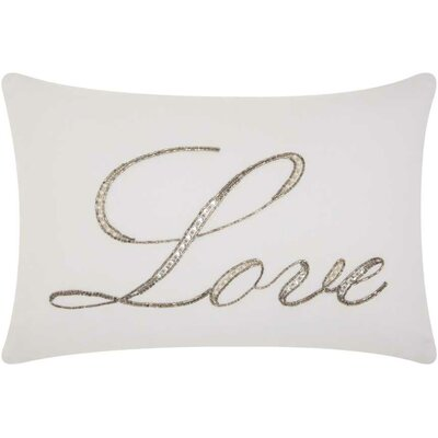 Burcet Love Cotton Lumbar Pillow