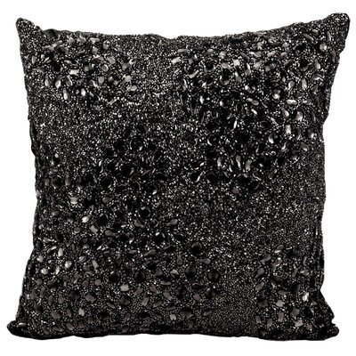 Hertzog Throw Pillow Color: Black, Size: 16 H x 16 W