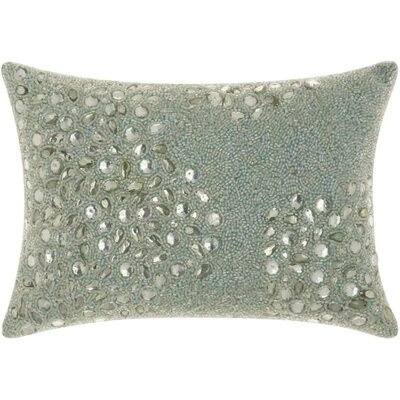 Hertzog Lumbar Pillow Color: Seafoam, Size: 10 H x 14 W