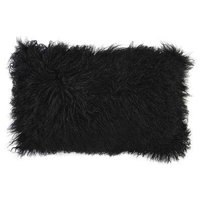 Fassbender Tibetan Sheepskin Lumbar Pillow Size: 14 H x 20 W x 0.5 D, Color: Rose
