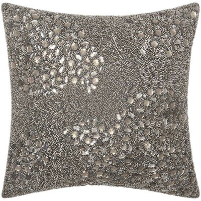 Fedor Throw Pillow Color: Pewter, Size: 16 H x 16 W