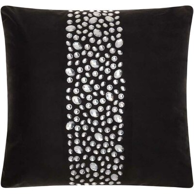 Fedor Faux Leather Throw Pillow Color: Black