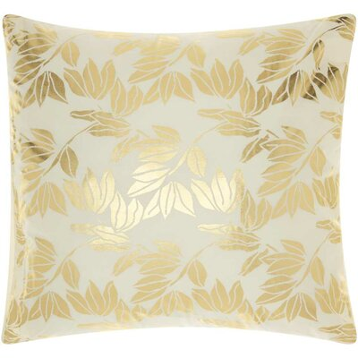 Fedor Throw Pillow Color: Ivory Gold