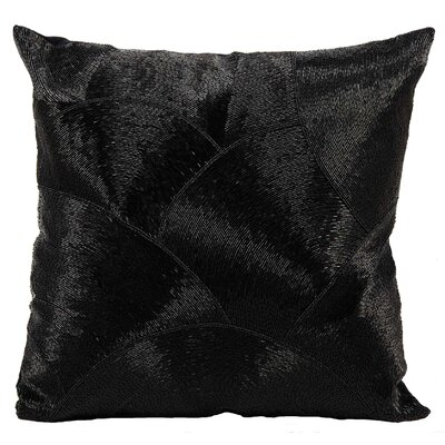 Sharonda Cotton Throw Pillow Color: Black