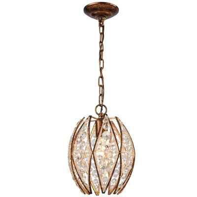 Alfred 1-Light Mini Pendant Finish: Aged Silver