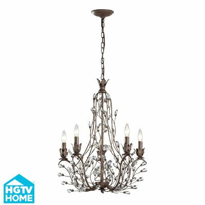Creed 5-Light Crystal Chandelier