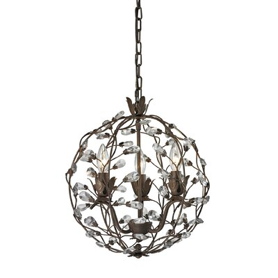Creed 3-Light Globe Pendant
