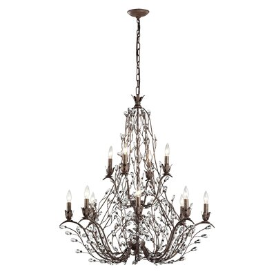 Creed 12-Light Crystal Chandelier