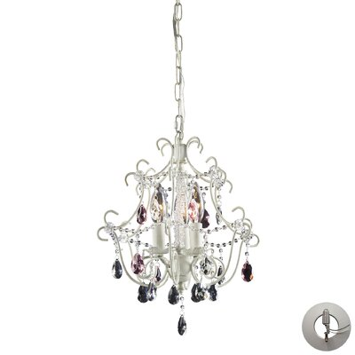 Sholto 3-Light Crystal Chandelier