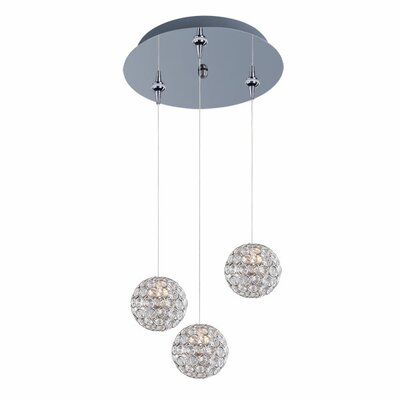 Devereaux Traditional 3-Light Pendant and Canopy