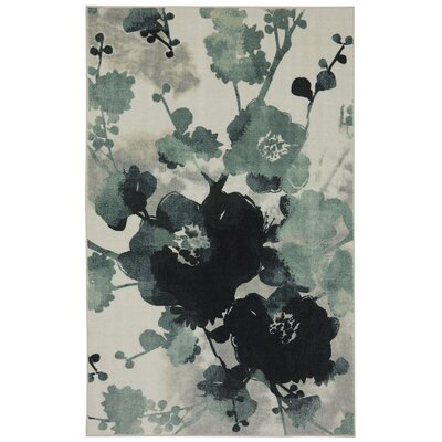 Ismene Stream Blue/Ivory Area Rug Rug Size: Rectangle 5' x 7'