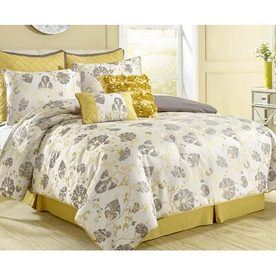 Gosling 8 Piece Reversible Comforter Set Size: Queen