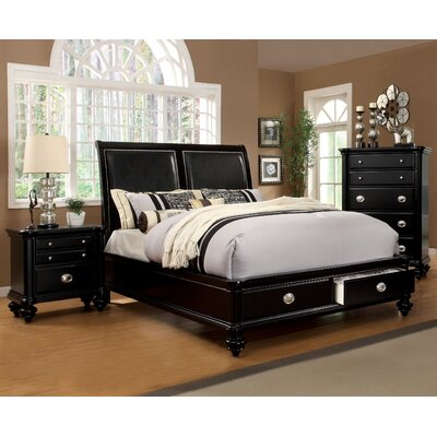 Geier Upholstered Storage Platform Bed Size: King