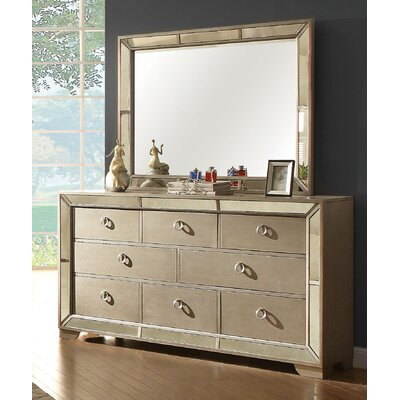 Geier 8 Drawer Dresser with Mirror
