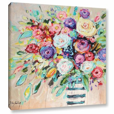 'Vibrant Bouquet' Painting Print on Wrapped Canvas WRLO6063 40724262