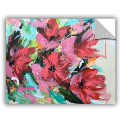 Gillen Red Flowers II Wall Mural Size: 14