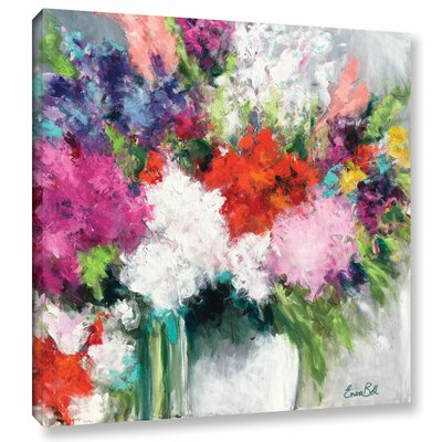 Flower Market Frenzy Painting Print on Wrapped Canvas Size: 10