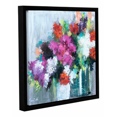 Flowers Market Framed Painting Print on Wrapped Canvas