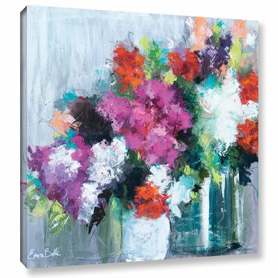 Flowers Market Painting Print on Wrapped Canvas Size: 10