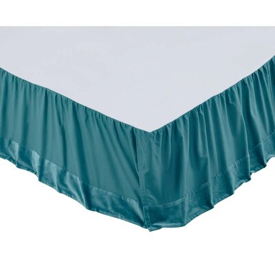 Hanks Bed Skirt Size: King, Color: Teal