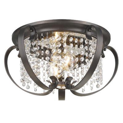 Hardouin 2-Light Flush Mount Finish: Etruscan Bronze