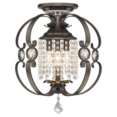 Hardouin 3-Light Semi-Flush Mount Finish: Etruscan Bronze