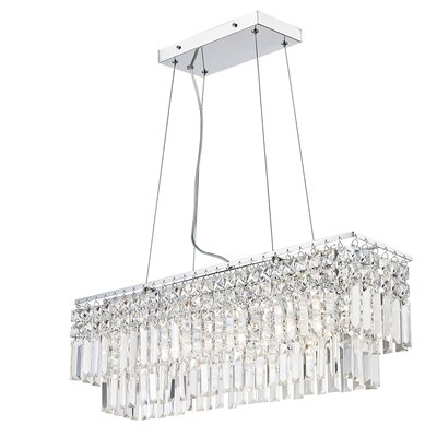 Hecht 4-Light Crystal Pendant