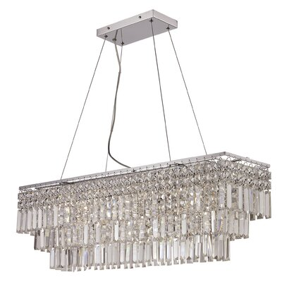 Hecht 5-Light Crystal Pendant