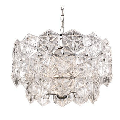 Burton 4-Light Crystal Pendant