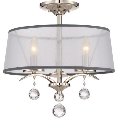 Bellecourt 3-Light Semi Flush Mount