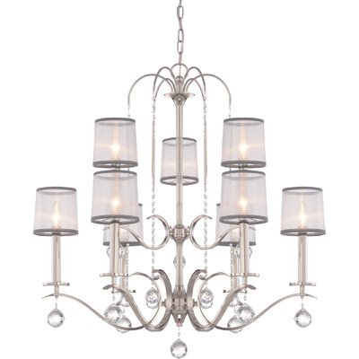 Bellecourt 9-Light Shaded Chandelier