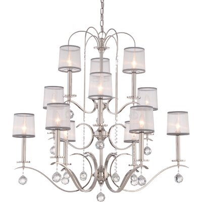 Bellecourt 12-Light Shaded Chandelier