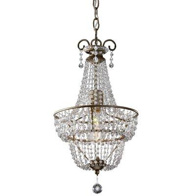 Baer 1 Light Crystal Chandelier