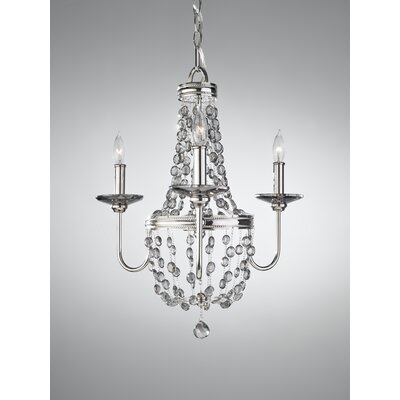 Elkins 3-Light Crystal Chandelier