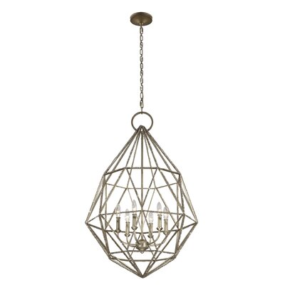 Dyana 6-Light Candle Chandelier Finish: Silver