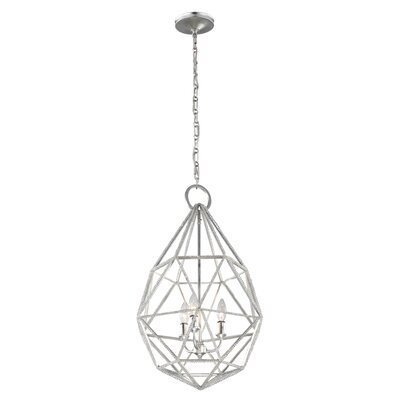 Dyana 3-Light Foyer Pendant Finish: Silver