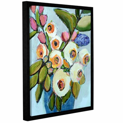 Mix Bouquet Framed Painting Print on Wrapped Canvas Size: 18