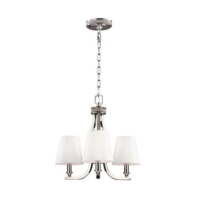 Havilland 3-Light Shaded Chandelier