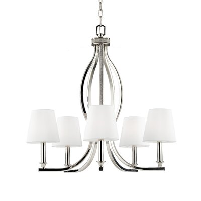 Havilland 5-Light Shaded Chandelier Bulb Type: B10 Torpedo Candelabra 60W