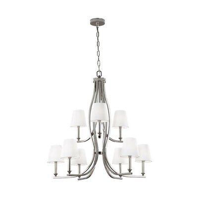 Havilland 9-Light Shaded Chandelier
