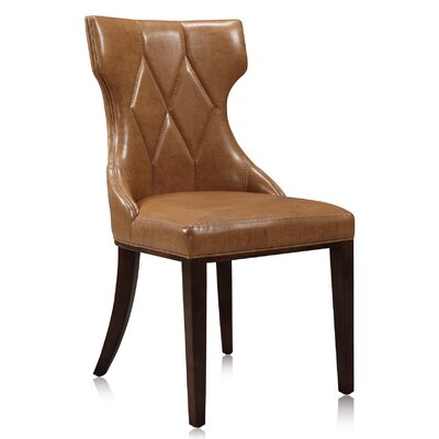 Sutherland Genuine Leather Upholstered Dining Chair in Leatherette - Camel