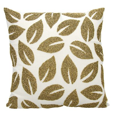 Anatole Cotton Throw Pillow Color: Gold