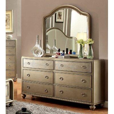 Delaney 6 Drawer Dresser with Mirror